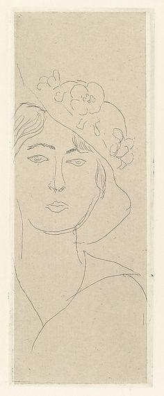 Henri Matisse | Mlle Landsberg with a Flowery Hat | The Met
