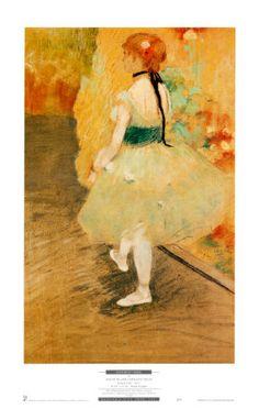 E. Degas - Dancer in Green Print