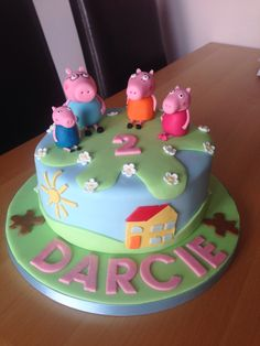 Peppa pig birthday cake for gorgeous Darcie