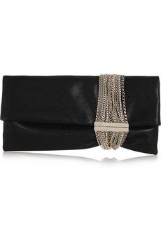 b448797cab Jimmy Choo - Chandra chain-embellished shimmer-suede clutch