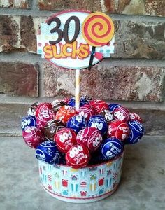 Funny Birthday Gift....you could make this with any number.  Funny!