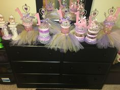 Centerpieces for a girl baby shower