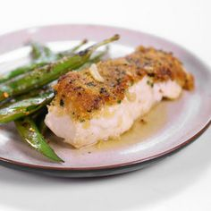 Michael Symon's Mustard Crusted Halibut in Butter Sauce