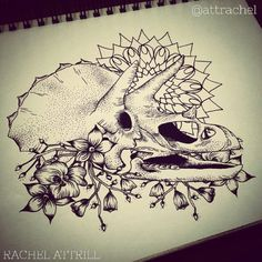 dinosaur skull tattoo - Google Search