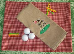 Custom Embroidered Golf Towel  The Eagle Has by CreativeSenseCom