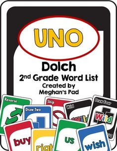 This is a twist on a classic game, UNO.Children have to opportunity to practice reading site words in a fun new way!The words that are included are: Dolch 2nd Grade Word List-always, around, because, been, before, best, both, buy, call, cold, does, don't, fast, first, five, found, gave, goes, green, its, made, many, off, or, pull, read, right, sing, sit, sleep, tell, their, these, those, upon, us, use, very, wash, which, why, wish, work, would, write, your.