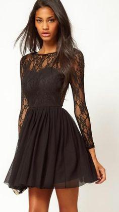 vestido de renda - vestidos asos