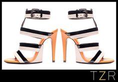 Bottega Veneta Stucco Nero Vernice Calf Sandals