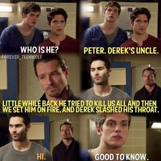 Teen Wolf Season 2 Derek Hale, Peter Hale, Isaac Lahey and Scott McCall