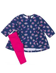 Ensemble de coton 2 pièces Rococo avec tunique florale ample et legging