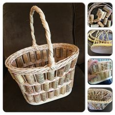 Baskets and more......: Wine Cork Tote