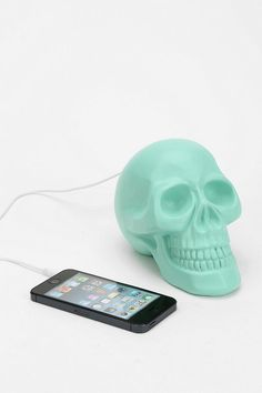Skull Speaker from Urban Outfitters. Shop more products from Urban Outfitters on Wanelo. Skull Decor, Take My Money, Original Gifts, Skull And Bones, Swagg, Decoration, Urban Outfitters, Cool Stuff, Stuff To Buy