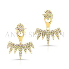 White Gold Diamond Spiked Tiara Floating Earrings Anne's selects for Coachella and all music festivals! White Gold Diamond Earrings, White Gold Jewelry, White Earrings, Diamond Pendant Necklace, White Gold Diamonds, Gold Jewellery, Diamond Jewelry, Gold Pendant, Rose Gold