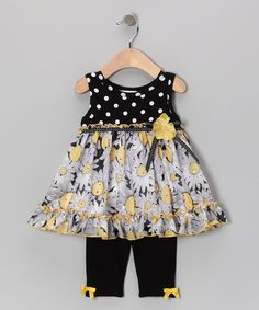 Take a look at this Black & White Polka Dot Dress & Leggings - Infant by Gerson & Gerson on #zulily today!