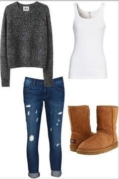 perfect ugg boots outfit for Winter