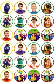 24 x Wiggles Edible Cupcake Toppers Pre-Cut in Home & Garden, Parties, Occasions, Cake First Birthday Party Themes, Birthday Cup, 1st Boy Birthday, 4th Birthday Parties, Birthday Ideas, Wiggles Birthday, Wiggles Party, Wiggles Cake, The Wiggles