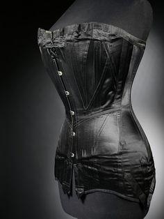 Black Satin Corset, ca. 1900 (Victoria & Albert Museum)
