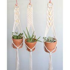 boho macrame plant hanger weaving tutorial - Google Search