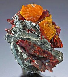 Getchelite on Stibnite w/ orpiment