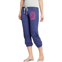 "Old Navy Womens Cropped Terry Sweatpants 23"" - Goodnight nora $10"