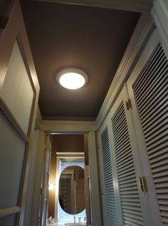 Devine Color - Devine Cocoa, hallway idea, hallway ideas, painted ceilings, accent wall