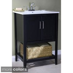 Shop for Legion Furniture Ceramic-top 24-inch Single Sink Bathroom Vanity with Basket. Get free delivery at Overstock.com - Your Online Furniture Outlet Store! Get 5% in rewards with Club O!