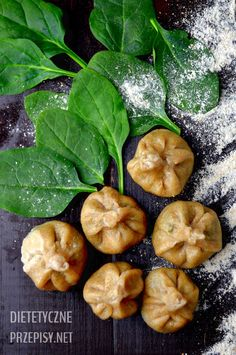 I love spinach and I use it very often in my healthy recipes. Today I suggest delicious vegetarian dumplings with spinach and feta cheese. My dumplings have very intense spinach taste and they are … Vegetarian Dumplings Recipe, Dumpling Recipe, Vegetarian Recipes, Snack Recipes, Cooking Recipes, Healthy Recipes, Snacks, Free Recipes, Cooking Tips