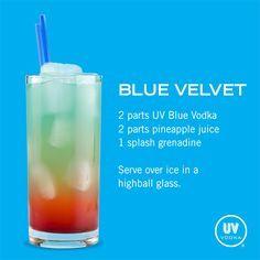 UV Vodka Recipe: Blue Velvet