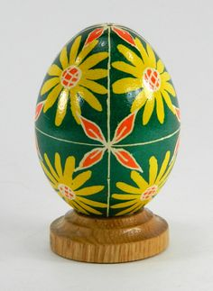 Polish Pysanky Egg Hand Painted Decorated Vintage Easter Blown Out Chicken Egg 20718 by JacksonsMarket on Etsy