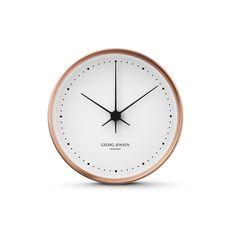 Copper/white dial Koppel wall clock, George Jensen at Skandium