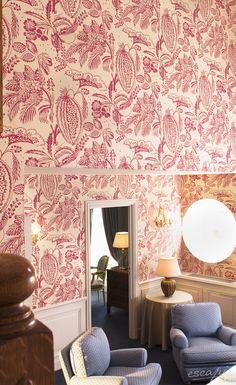Interior Detail der Suite im Schlosshotel Hotel Château de l'Ile in Straßburg. Frankreich. Elsass | France. Alsace