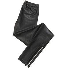 Treggin zippé ❤ liked on Polyvore featuring pants, leggings, bottoms, jeans and legging pants
