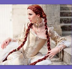 2 Medieval Renaissance costume wig SCA ren faire by Puppycatmeow, $165.00