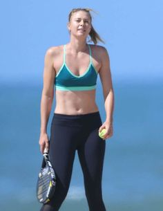 Maria Sharapova works out on the