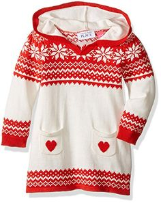 824346f4760 The Children s Place Girls  Toddler Girls  Hooded Sweater Dress -