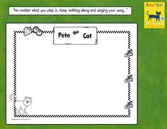 some more ideas to use for Pete the Cat