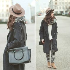Get this look: http://lb.nu/look/5860577  More looks by Maddy C: http://lb.nu/maddy  Items in this look:  Coat, Bag, Hat