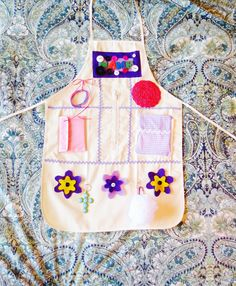 Activity Apron - for visual and tactile stimulation for the elderly and those with Dementia / Alzheimer's