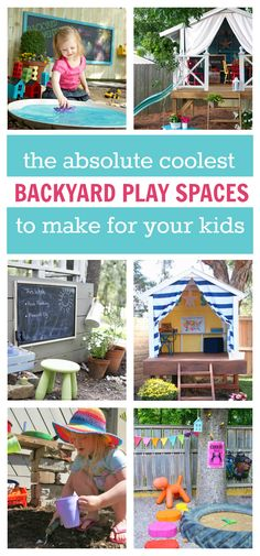 Rock your kids world by building one of these super cool backyard play spaces!