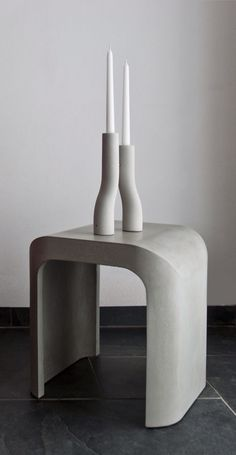U-Stool - modern concrete indoor/outdoor furniture designed by @MikaelaDoerfel for @IntoConcrete #Chicago.