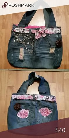 Handmade blue Jean purse Handmade blue Jean purse very pretty great for adults, teens and kids. Bags Shoulder Bags