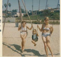 1960's beach...vintage photo