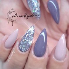Cute Stiletto Nails With Matte Accents. If you are a passionate lover of a matte finish, have a look at these matte and cute stiletto nails. best stiletto nails designs ideas tips for you stiletto nails # Gorgeous Nails, Love Nails, Fun Nails, Amazing Nails, Nail Designs Pictures, Nail Art Designs, Pictures Of Gel Nails, Best Nail Designs, Stiletto Nail Art