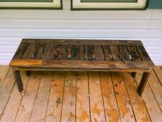 Simple bench from pallets | Do It Yourself Home Projects from Ana White