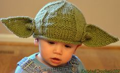 Love this knitted Yoda hat for babies! @KnitandCrochet2009 on @etsy.