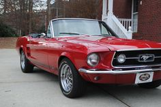 1967 RED Ford Mustang Convertible