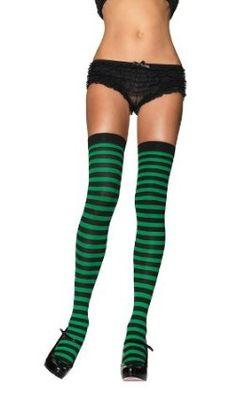 Leg Avenue Women's Nylon Striped Stockings