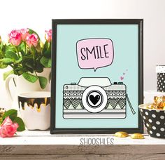 Camera Print Digital Download Love Photography Photo by shooshles #smile #print #camera #cameraprint #camera_drawing #drawing #illustration #digitalart #artwork #draw #lovephotography #photography #photographer #inkart #pink #ink #green #blue #white #love #nursery #printable #prints #printable #art #arts #arte #pinterest #etsyshop #etsy #fashion #fashionwallart #fashionprint #homedecor #home_decor #modern #artist #diy #gift #giftidea #heart #love #quote #saying #smilecamera #lovecamera…