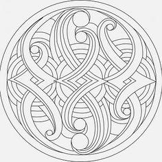 Mandala B cm Art. Mandala Pattern, Mosaic Patterns, Mandala Design, Color Patterns, Doodle Patterns, Geometric Coloring Pages, Mandala Coloring Pages, Coloring Book Pages, Stylo 3d