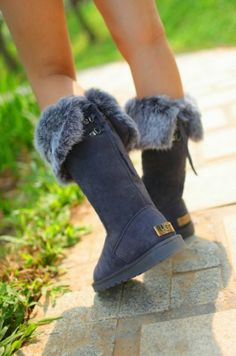 Deep Navy Cozy Ugg Boots | Fashionista Tribe however looks like they're out of season in this picture lol